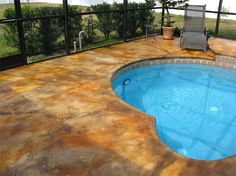 stained concrete pool deck Seattle