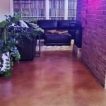 stained concrete floor seattle