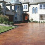 stained concrete driveway seattle