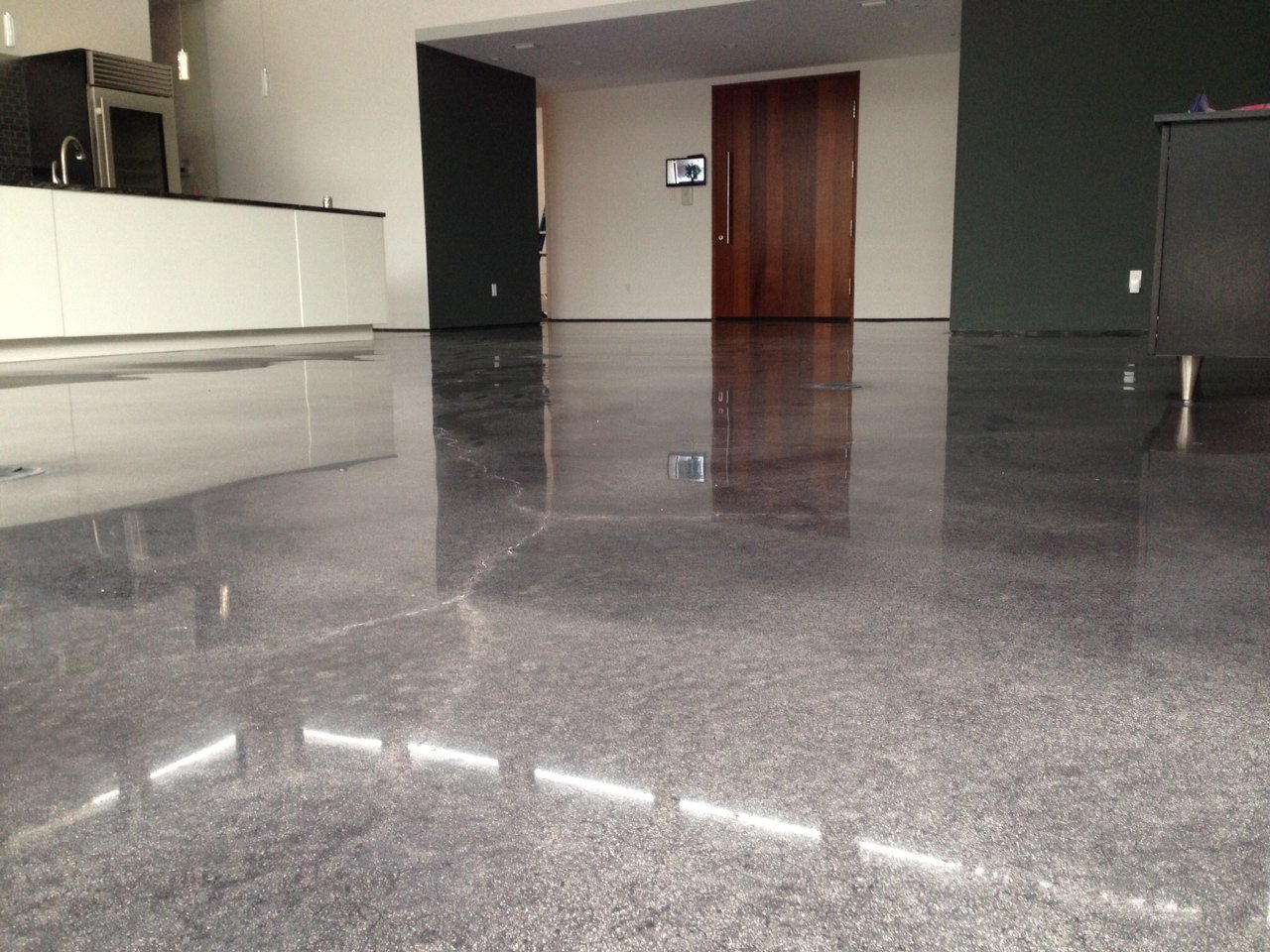 Decorative and durable indoor concrete flooring options for Indoor cement flooring