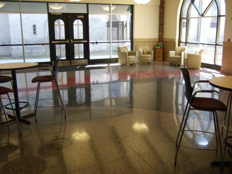 entrance way with epoxy flooring