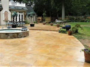 stained concrete patio contractor