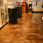 concrete staining interior floor Seattle