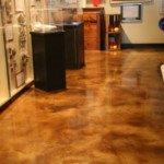concrete staining interior floor Seattle