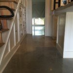 residential stairway polushed concrete