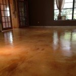 staining concrete interior floors Seattle WA