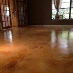 staining concrete interior floors Seattle WA