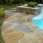 stamped concrete pool deck Seattle WA