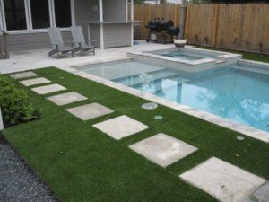 artificial turf pool deck