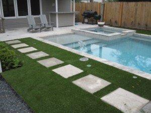 artificial turf pool deck