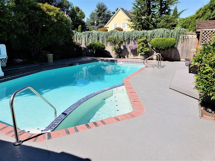 Pool Deck Resurfacing Seattle, WA : Stamped Concrete & Spray Texture