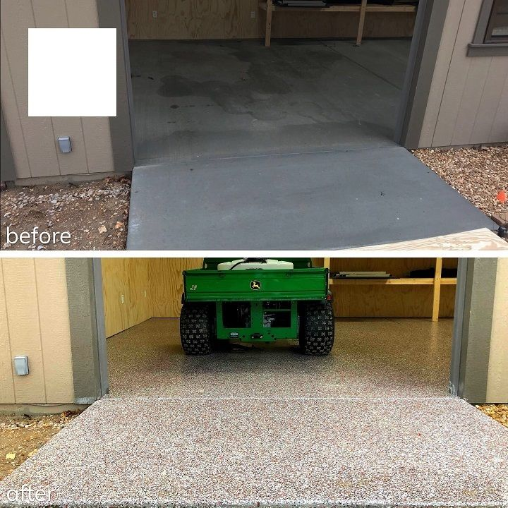 garage floor before and after